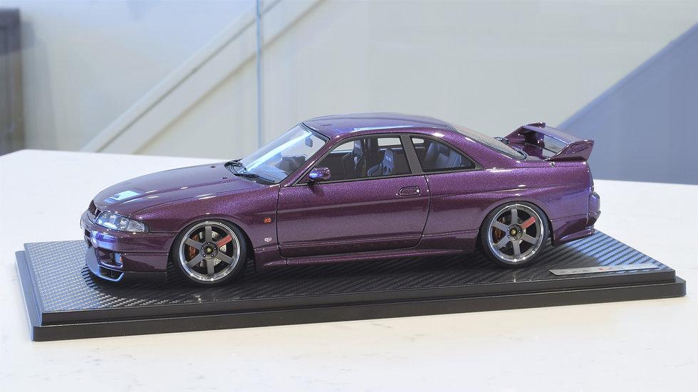 1/18 IGNITION MODEL - Nissan Skyline GT-R (R33) V-SPEC - Midnight Purple