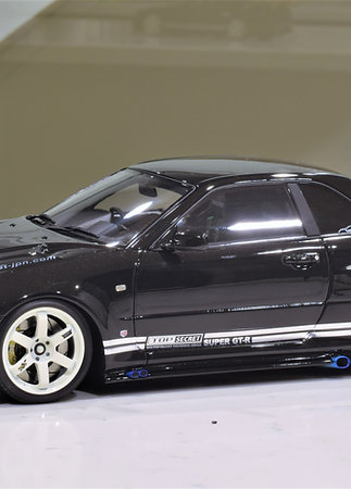 1/18 IGNITION MODEL -TOP SECRET NISSAN GT-R R34 SKYLINE (BLACK)
