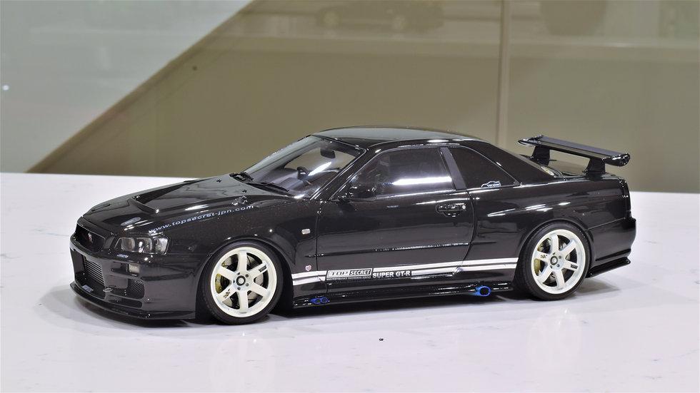 1/18 IGNITION MODEL -TOP SECRET NISSAN GT-R R34 SKYLINE (BLACK)