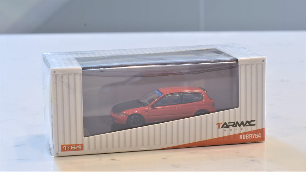 1/64 TARMAC WORKS - Spoon Honda Civic EG6 (RED)