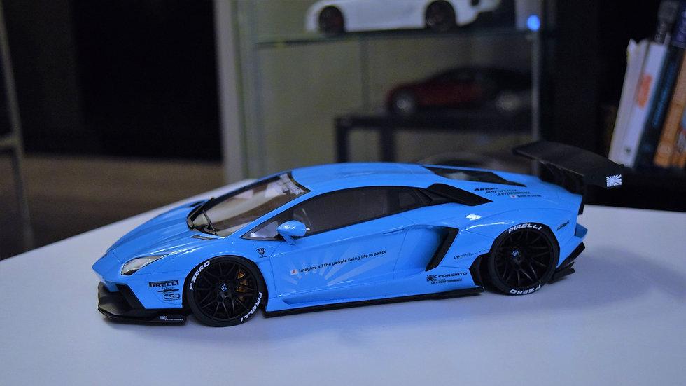 GT Spirit 1/18 LIBERTY WALK Lamborghini Aventador - Blue