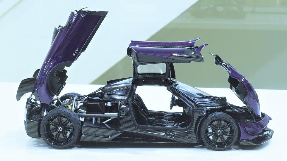 1/18 AUTOart - Pagani Huayra BC - Viola VSO / Carbon (Purple)