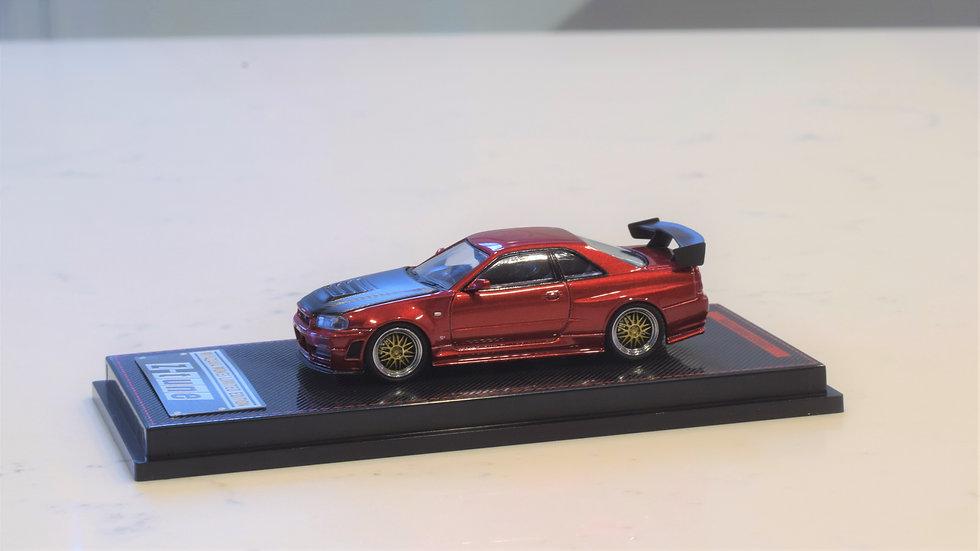1/64 IGNITION MODEL - Nissan Skyline GT-R NISMO Z-TUNE - RED Miyazawa Mokei