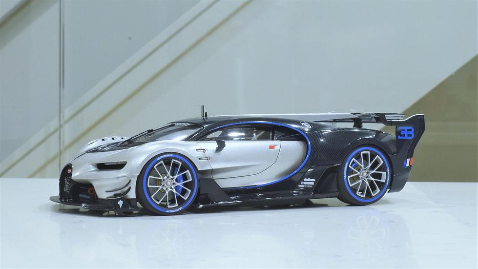 1/18 AUTOart - Bugatti Vision Gran Turismo (ARGENT SILVER/BLUE CARBON)