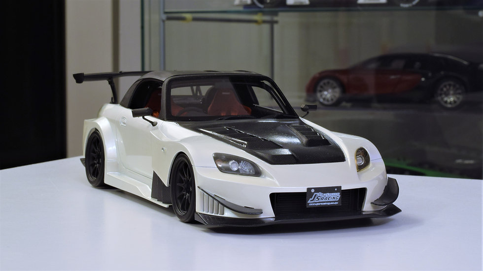 1/18 ONE MODEL - J's Racing Honda S2000 Widebody - White