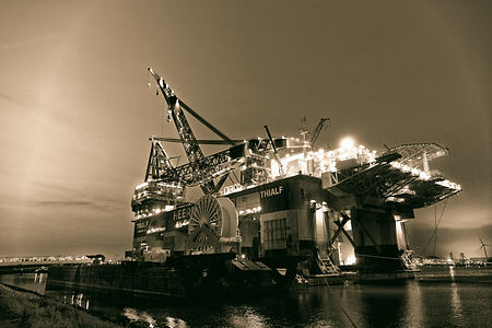 Thialf is a crane vessel equipped with 2x 7100mT cranes, used for installation and removal of variou