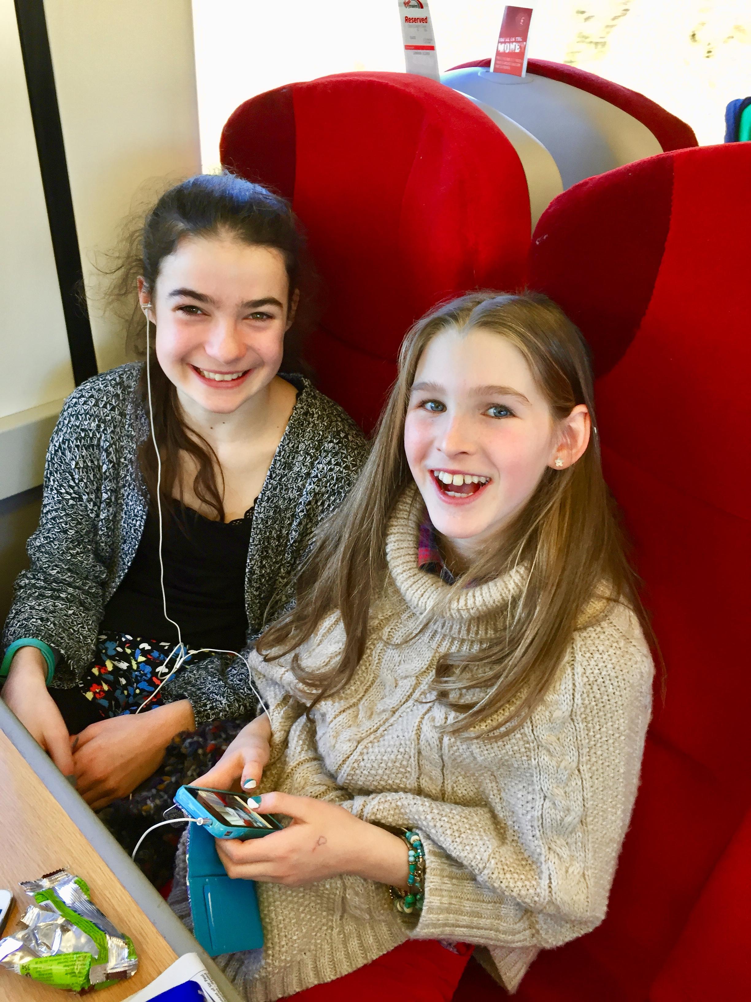Katy and Alisha were very excited!
