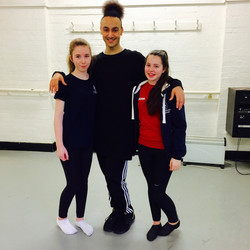 Anna, Megan and our teacher Tariq