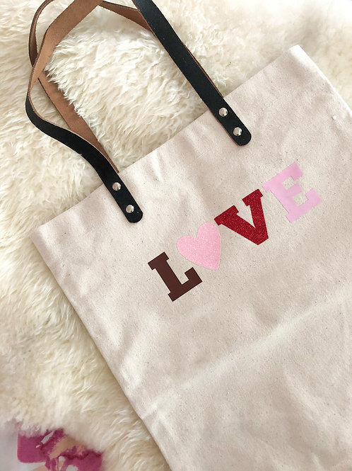 LOVE CANVAS TOTE/SHOPPER