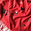 Thumbnail: PILLAR BOX RED PASHMINA WITH BUTTERFLY PRINT
