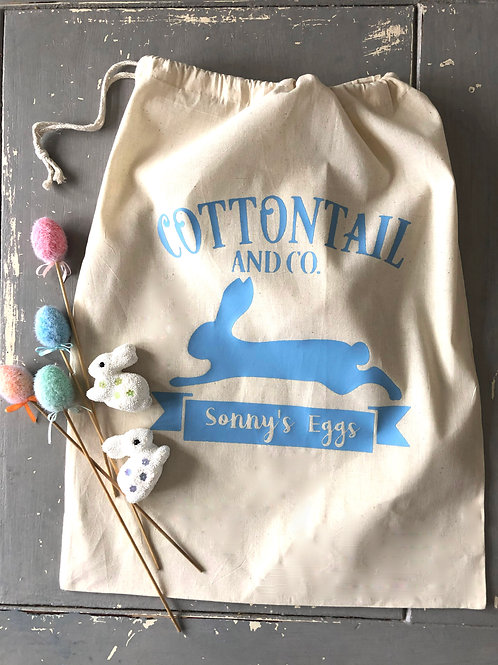 COTTON TAILS EASTER SACK LARGE