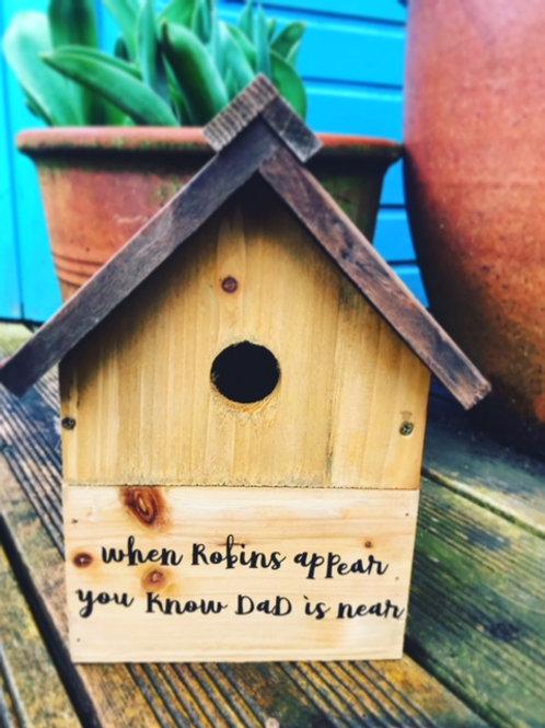 IN MEMORY BIRD BOX