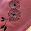 Thumbnail: PINK PASHMINA WITH FLOWER AND LEAFY DESIGN