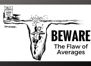 Beware : In Investing , averages can drown you.