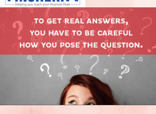 Are you framing the question, as per the answer you needed to hear ?