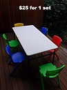Kids Table and Chairs for hire