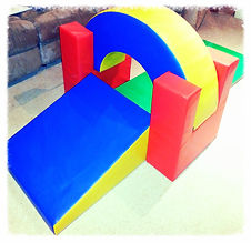 Curved climber set or climbing shapes