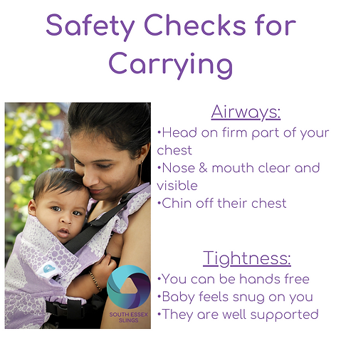 Safety Checks for baby Carrying (1).png. How to stay safe when babywearing