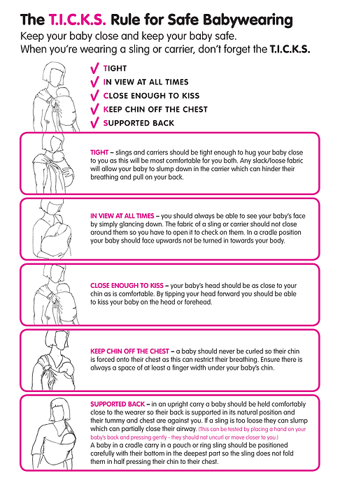 ticks.png babywearing safety guidelines from baby sling safety consortium