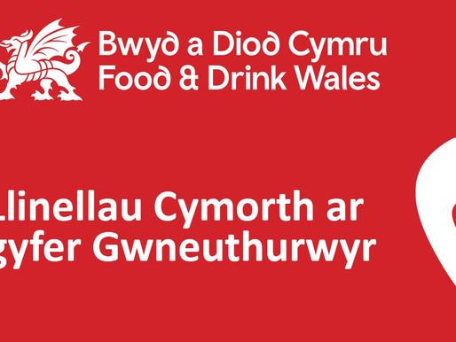 Llinellau Cymorth Bwyd a Diod Cymru ar gyfer Gwneuthurwyr