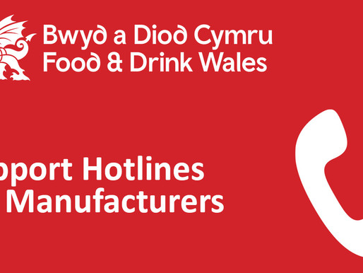 Food and Drink Wales Support Hotlines for Manufacturers