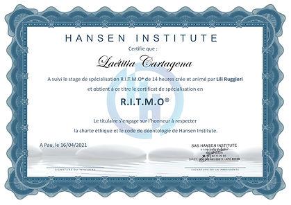 CERTIFICATS RITMO 2021 CARTAGENA Laetiti