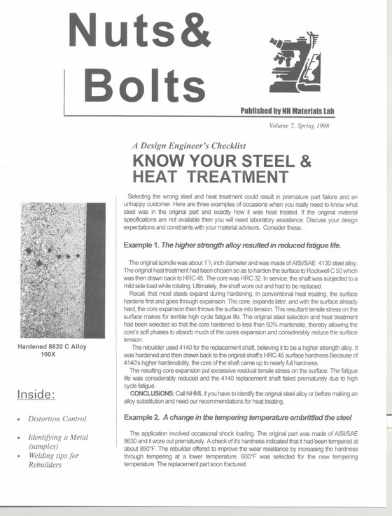 Nuts and Bolts Newsletter: May 1998, Vol. 7