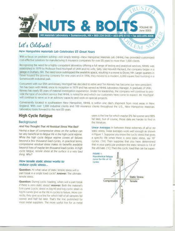 Nuts and Bolts Newsletter: June 2005, Vol. 22