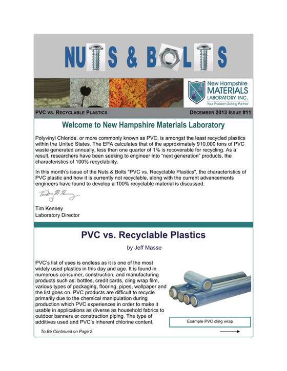 Nuts and Bolts Newsletter: December 2013, Issue 11