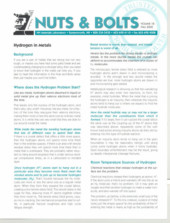 Nuts and Bolts Newsletter: September 2002, Vol. 18