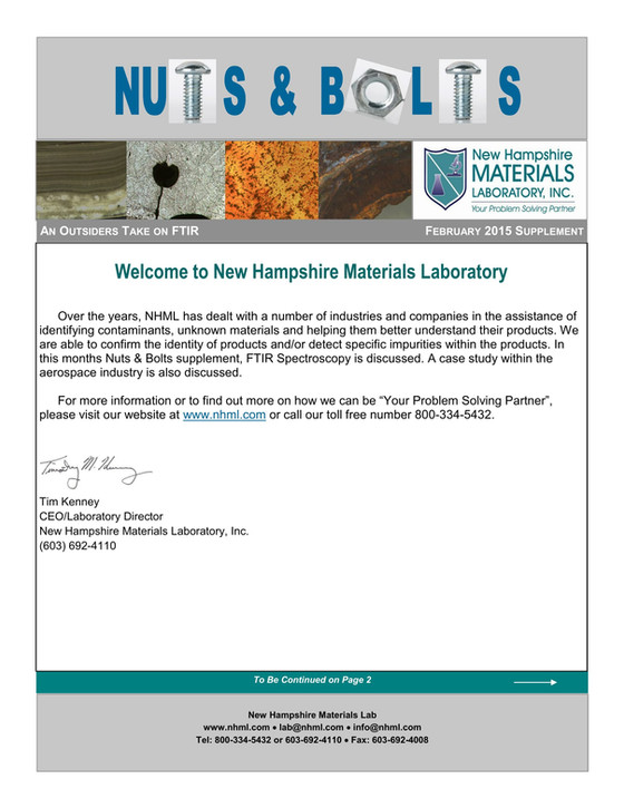 Nuts and Bolts Newsletter: February 2015, Supplement Issue