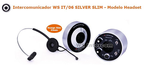 Intercomunicador Ws Intercom - Mod. It/06 Silver Slim HEADSET