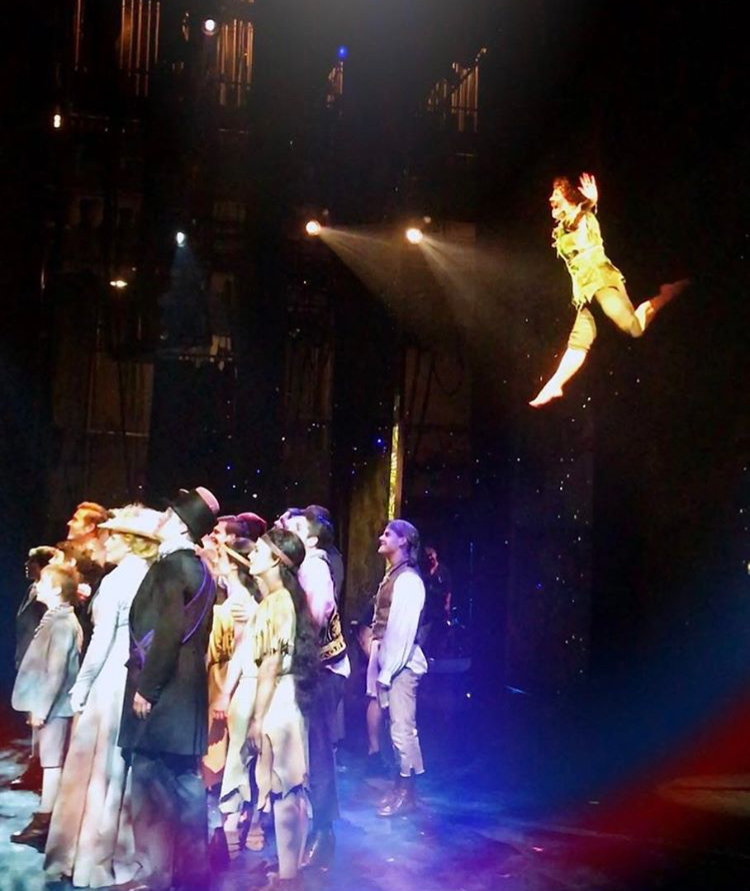 """Finding Neverland"" as Peter Pan"