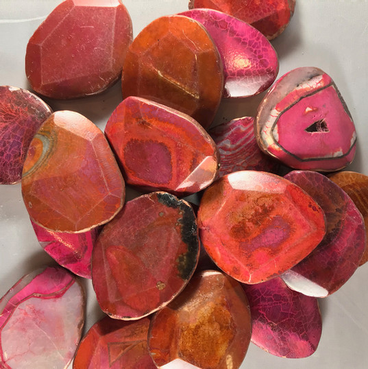 Red-pink stone
