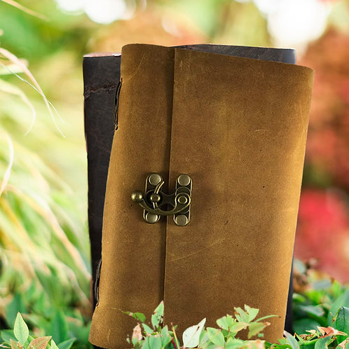 Cowhide Journal w/clasp