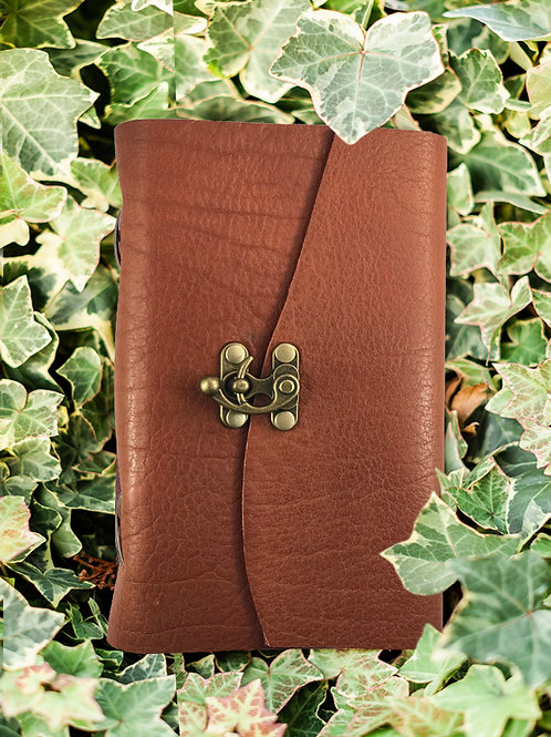 Moccasin Bison Journal w/clasp