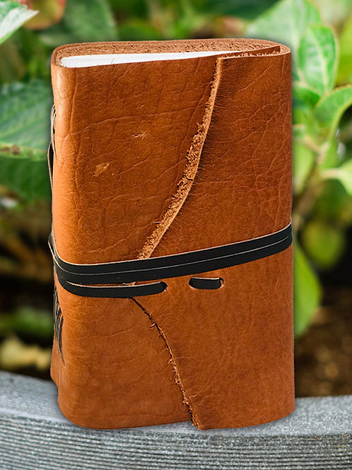 Moccasin Bison Journal w/strap
