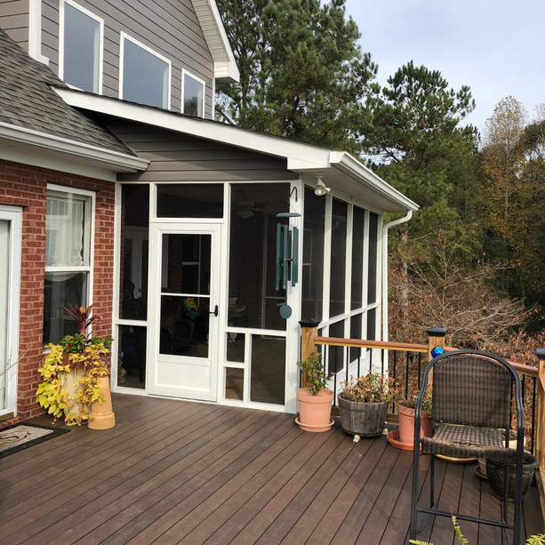 Traditional Screened in Porch