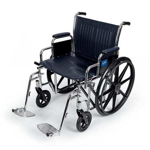 "Heavy Duty Wheelchair 22"" with standard leg rests"