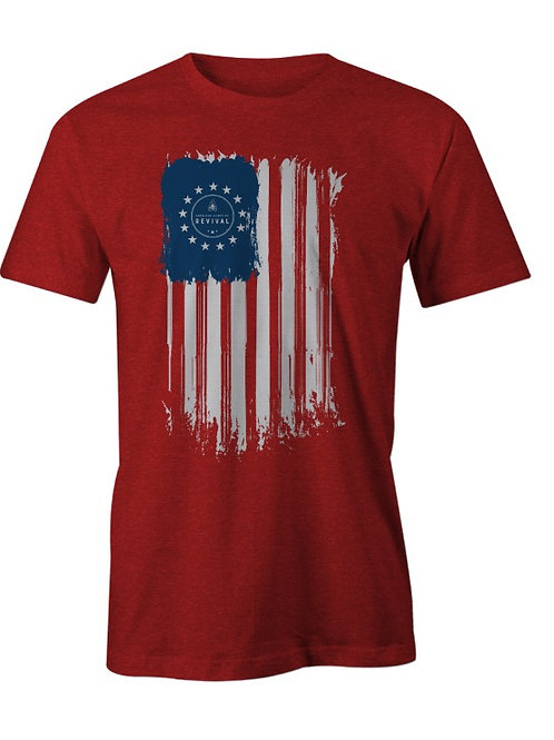 4th of July- 1776 American Campfire Revival Tee