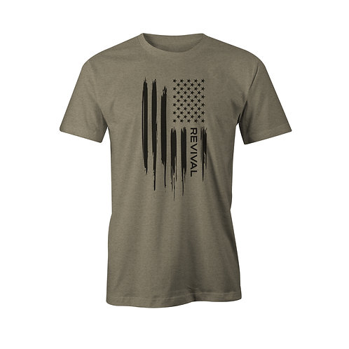 Revival Flag Tee (Military Green)