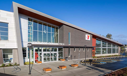 Stanwood YMCA  technical review, energy code compliance, site inspections, air barrier testing