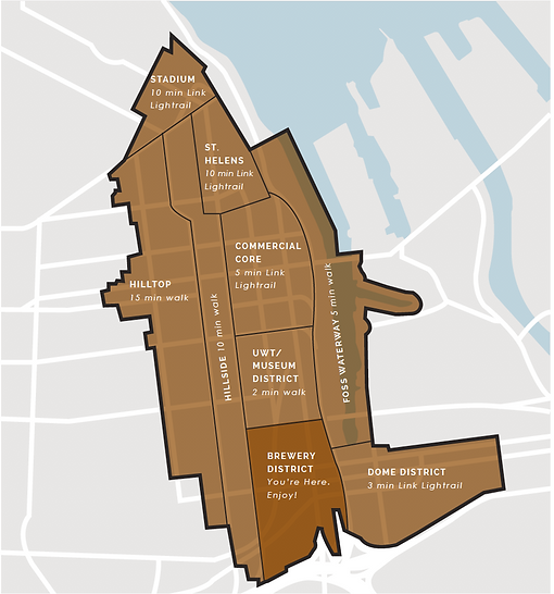 Brewery District/Tacoma Aerial Map