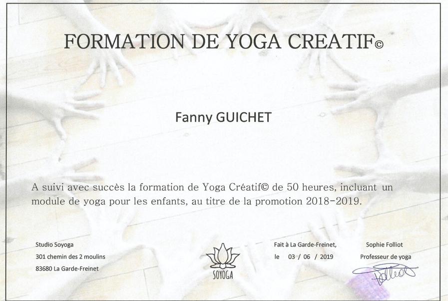 Certificat de formation Yoga créatif®