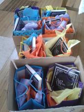 Gift bags for Bloomsburg School