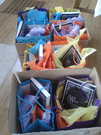 Gift bags for Bloomsburg School