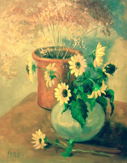 Sunflowers and Broomweed