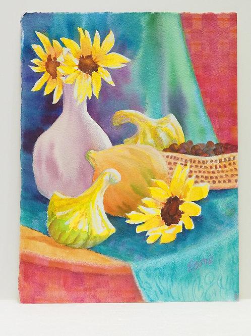 Squash and Sunflowers