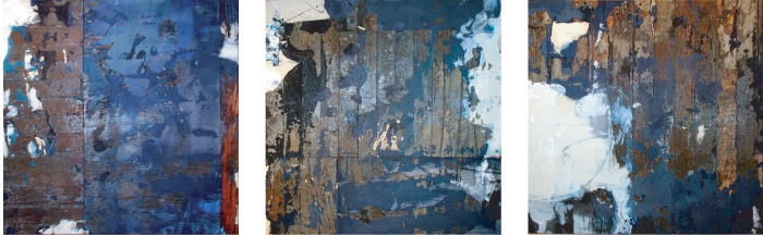 Imprint Triptych (blue)