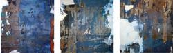 Imprint Triptych (blue)